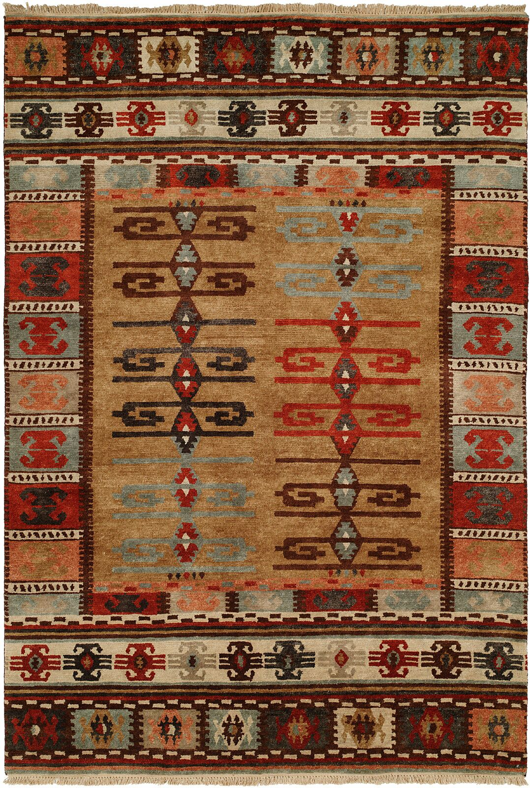 Bakke Hand-Knotted Wool Brown Area Rug Rug Size: Runner 2'6