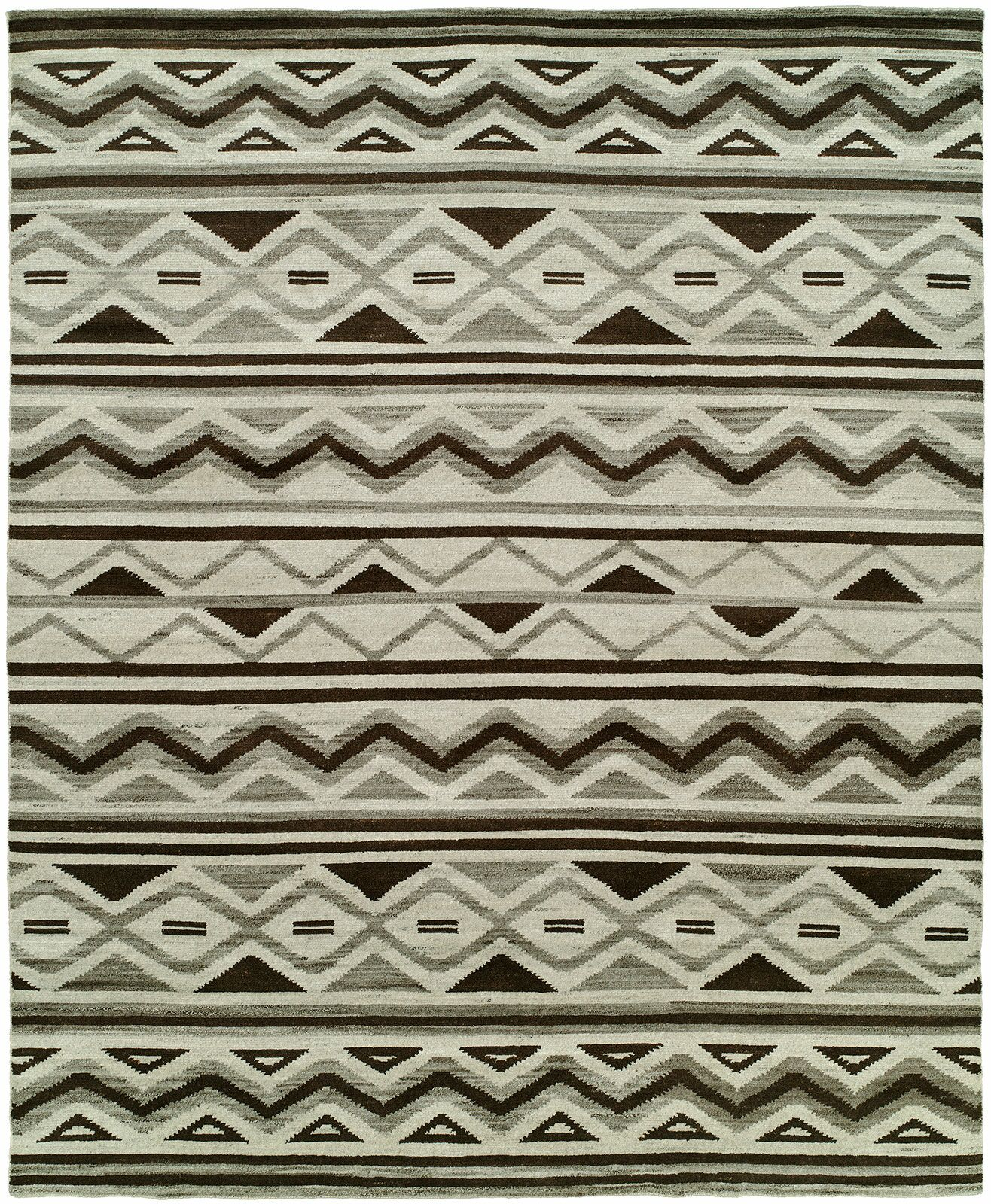 Raynham Hand-Knotted Wool Ivory Area Rug Rug Size: Rectangle 9' x 12'