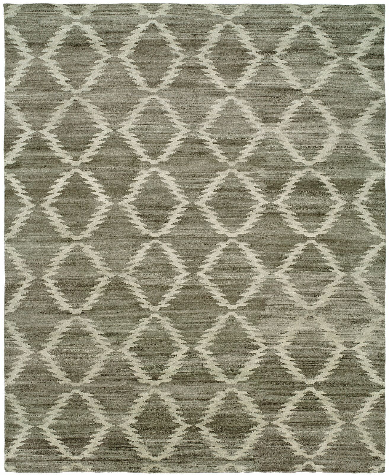 Provincetown Hand-Knotted Wool Gray Area Rug Rug Size: Rectangle 9' x 12'