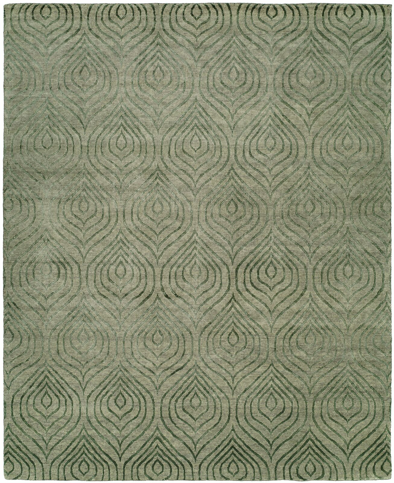 Montpelier Hand-Knotted Gray Area Rug Rug Size: Rectangle 9' x 12'