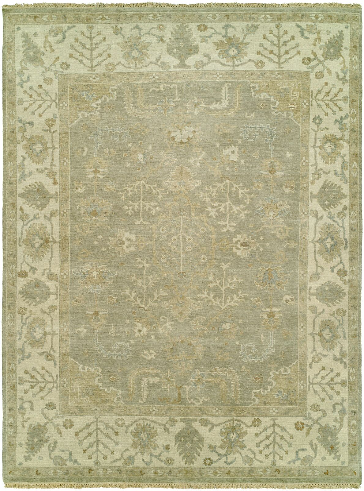 Maynard Hand Knotted Wool Gray Area Rug Rug Size: Rectangle 6' x 9'
