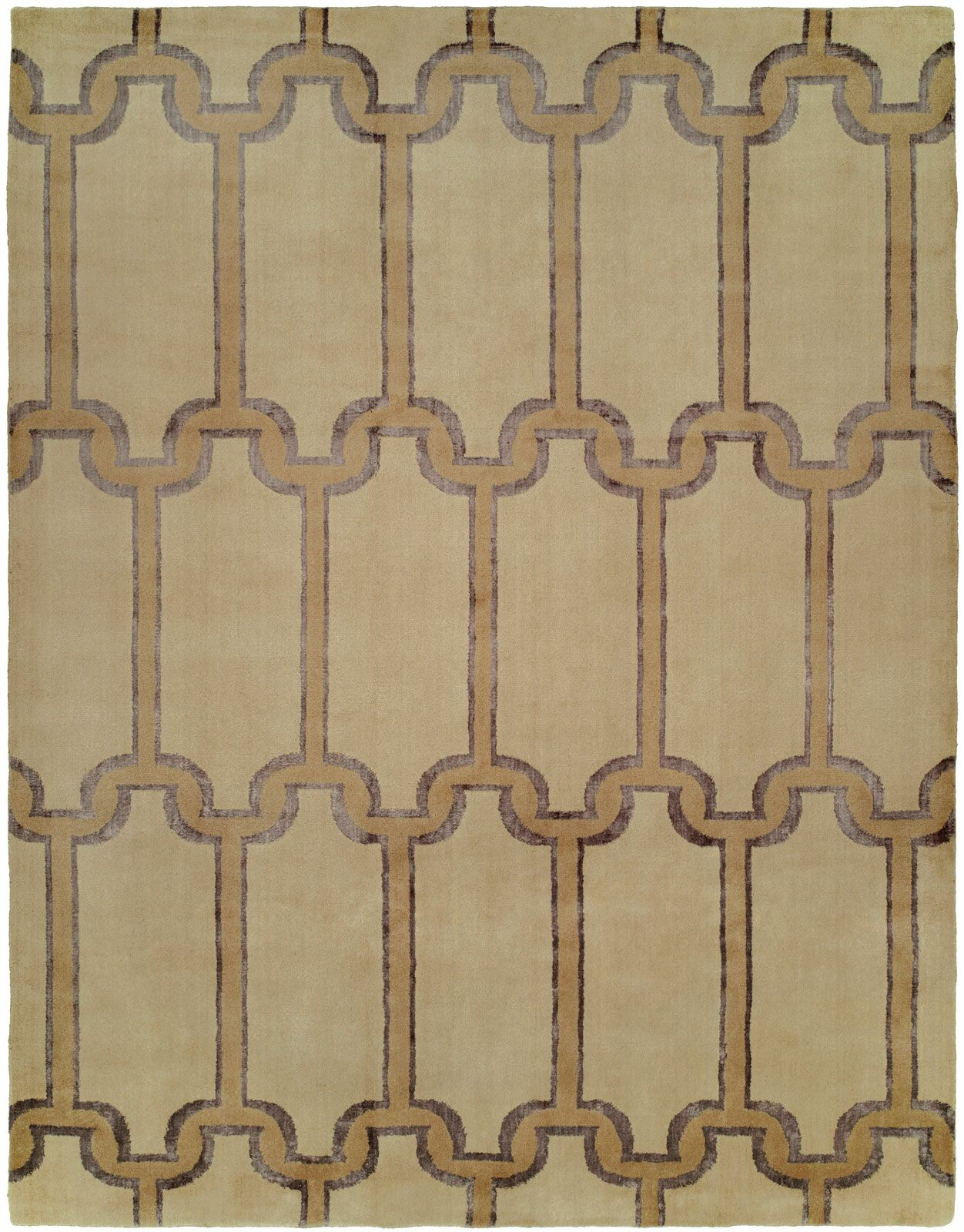 Gottfried Hand Knotted Wool Beige Area Rug Rug Size: Rectangle 9' x 12'