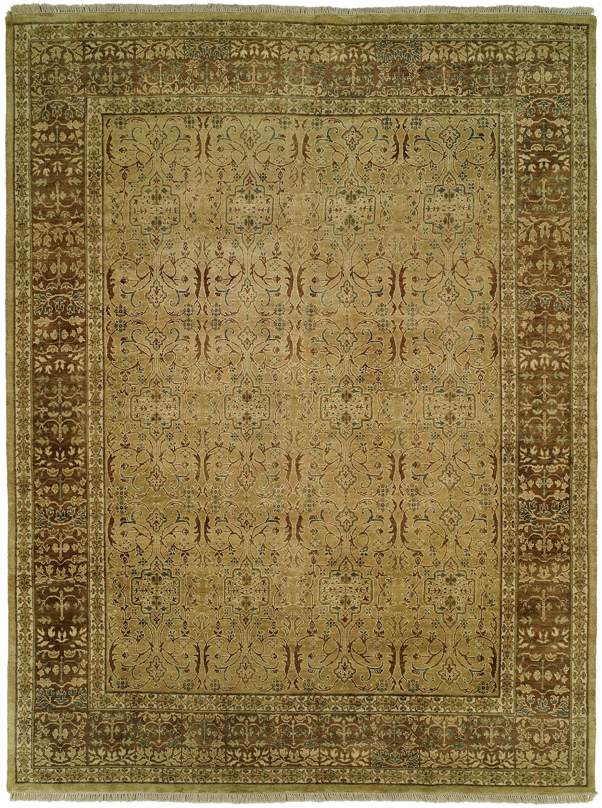 Mcmullin Hand Knotted Wool Tan/Brown Area Rug Rug Size: Rectangle 5' x 7'