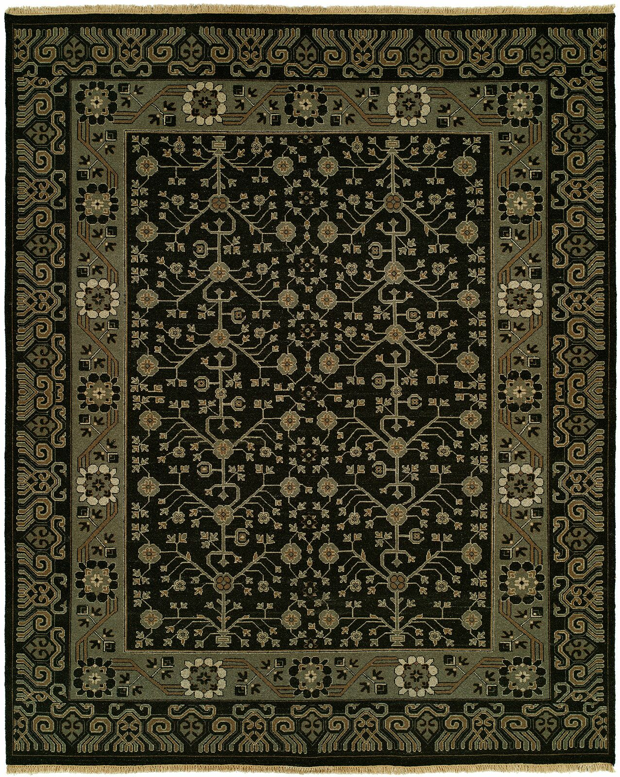 Hesson Wool Black Area Rug Rug Size: Rectangle 9' x 12'