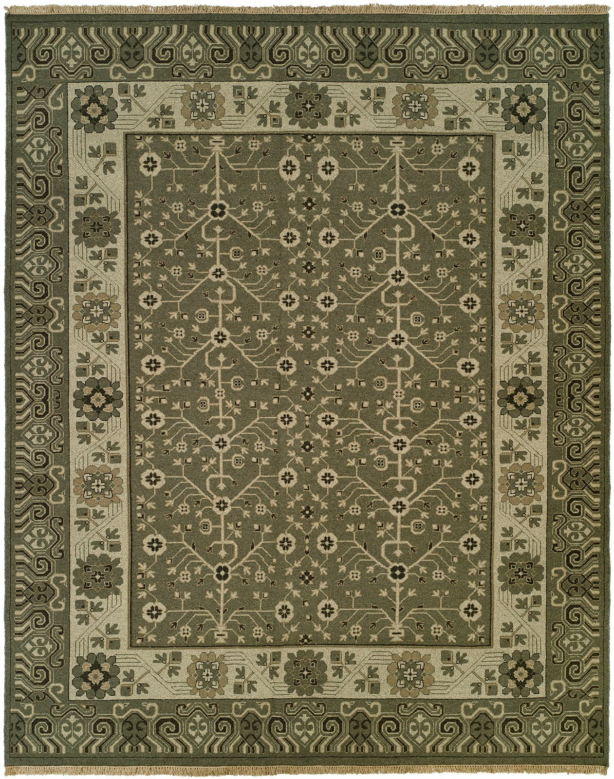 Donaghy Wool Gray Area Rug Rug Size: Runner 2'6
