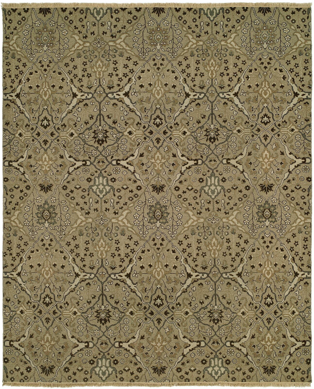 Mazzariello Wool Wheat Area Rug Rug Size: Rectangle 4' x 6'