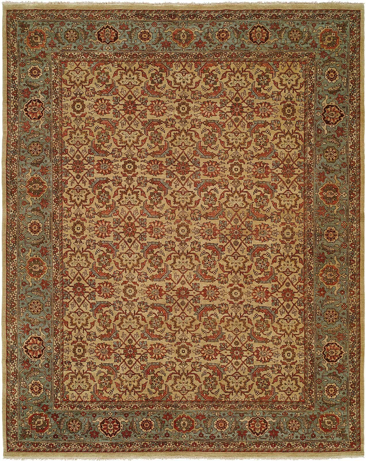 McCullom Hand Knotted Wool Ivory/Blue Area Rug Rug Size: Runner 2'6