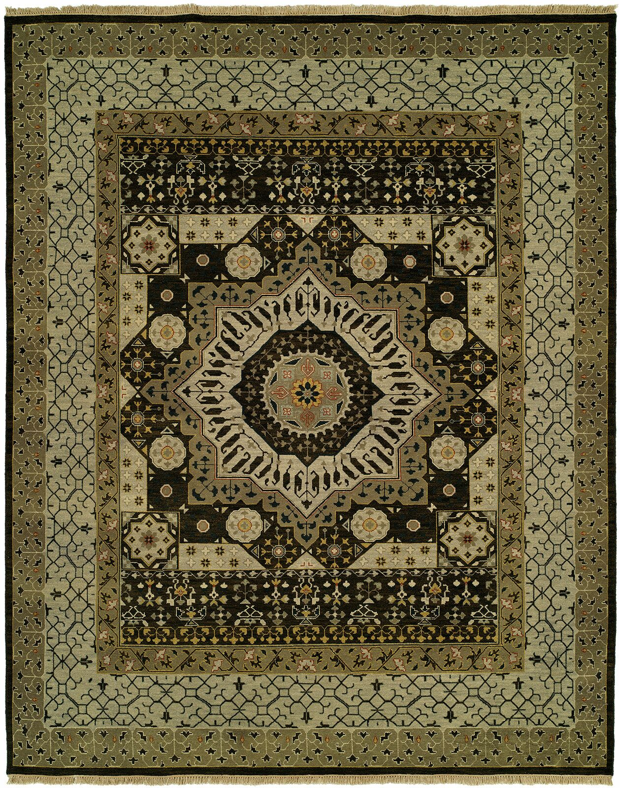 Martinton Wool Olive Area Rug Rug Size: Square 8'