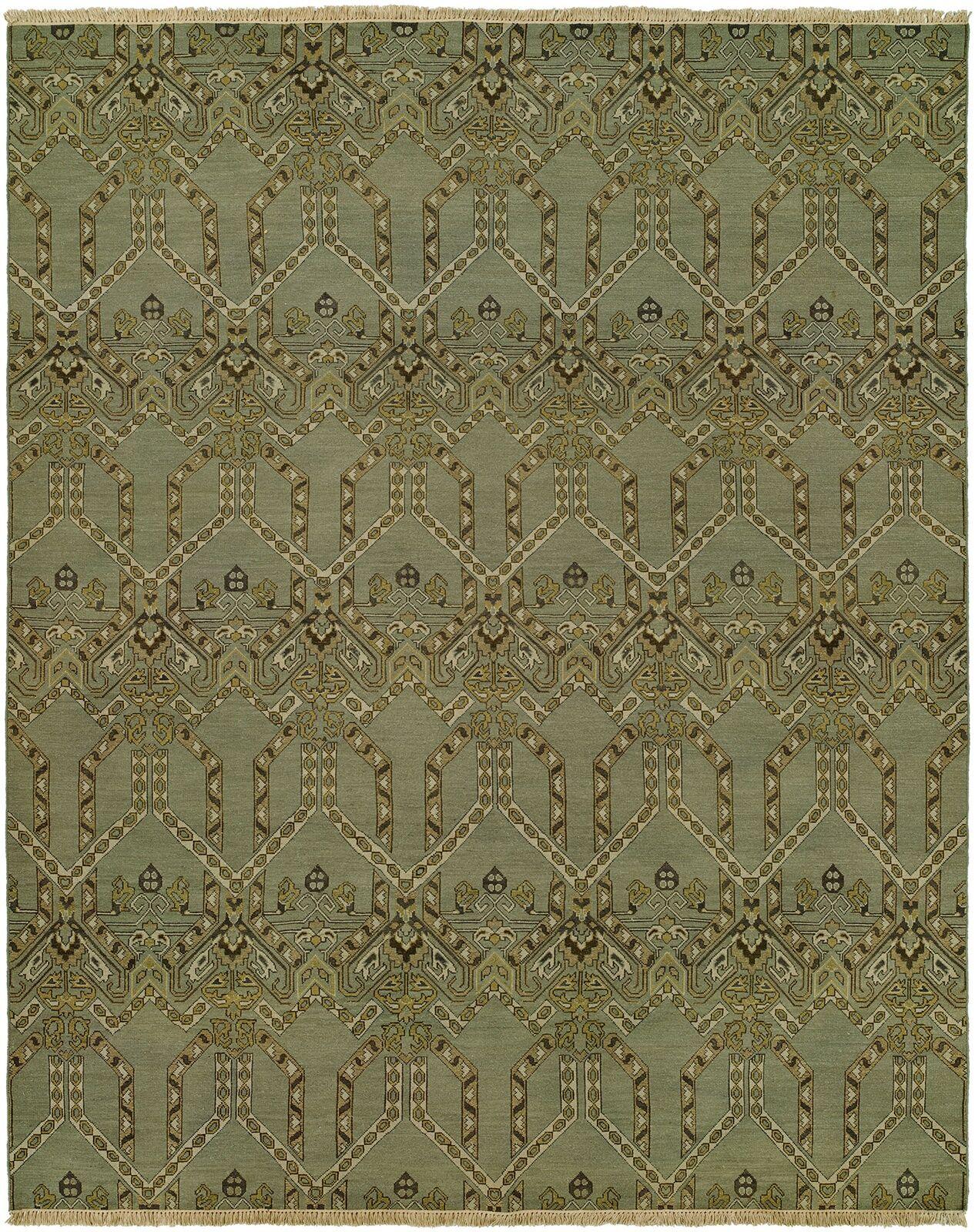 Mccaffrey Wool Olive Area Rug Rug Size: Rectangle 2' x 3'