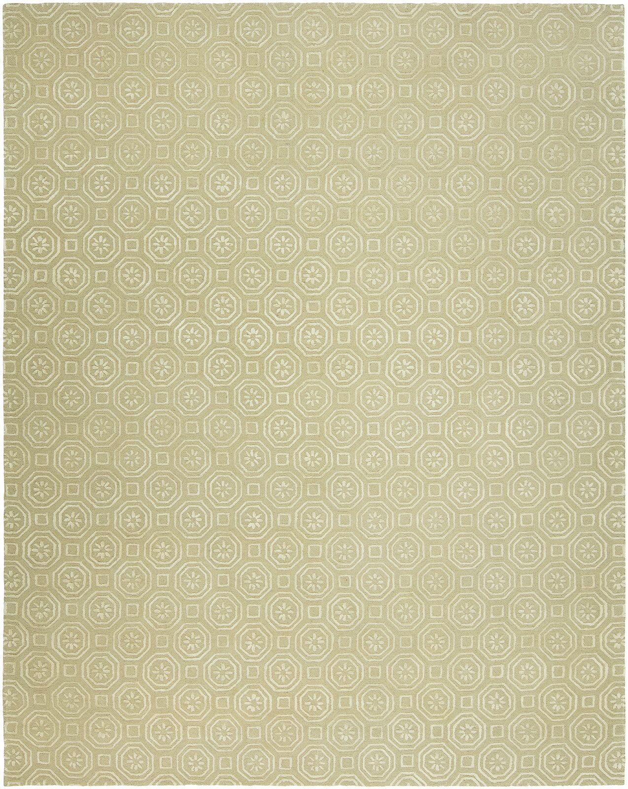 Rivka Hand-Tufted Wool Beige Area Rug Rug Size: Rectangle 9' x 12'