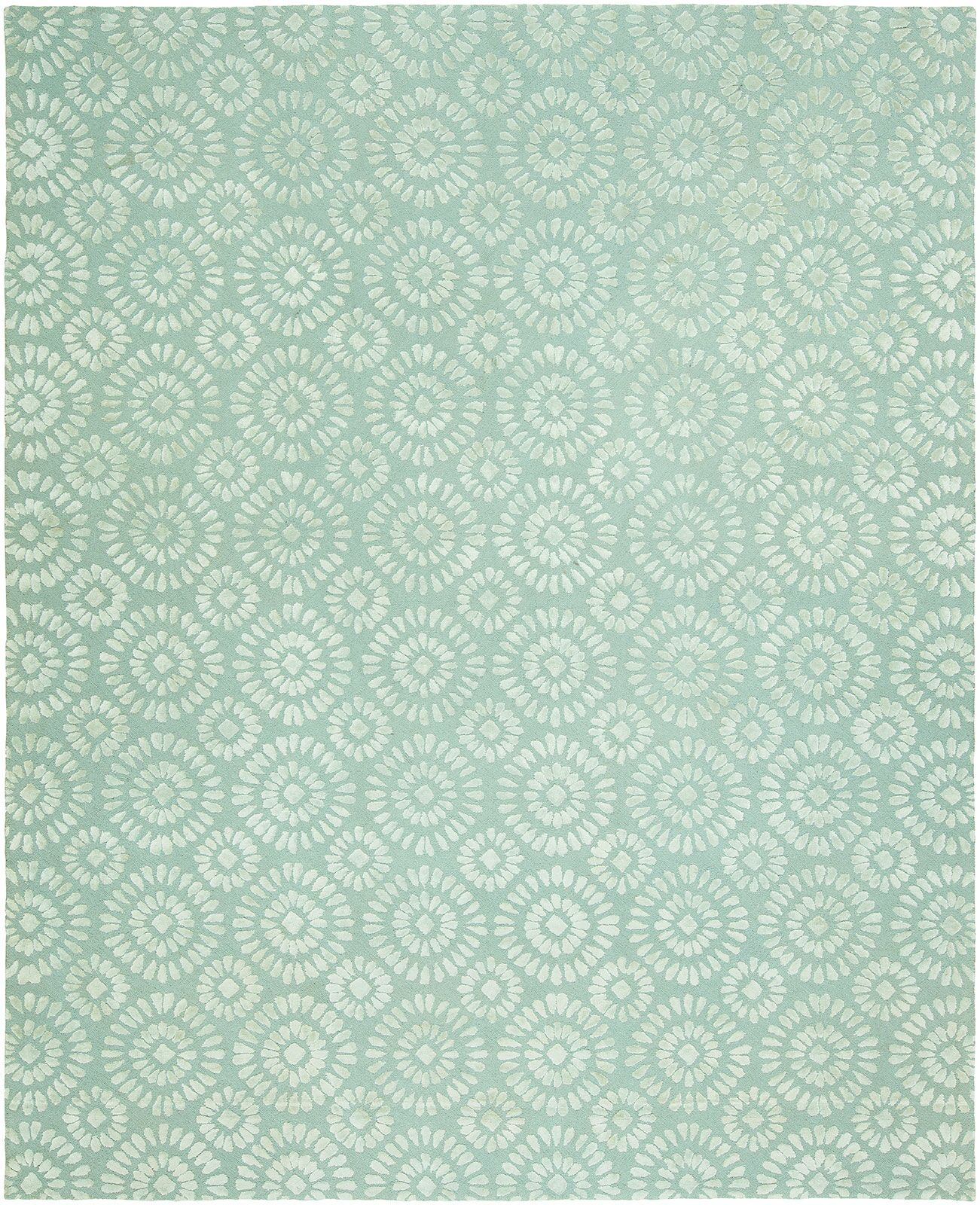 Nathalia Hand-Tufted Wool Blue Area Rug Rug Size: Runner 2'6