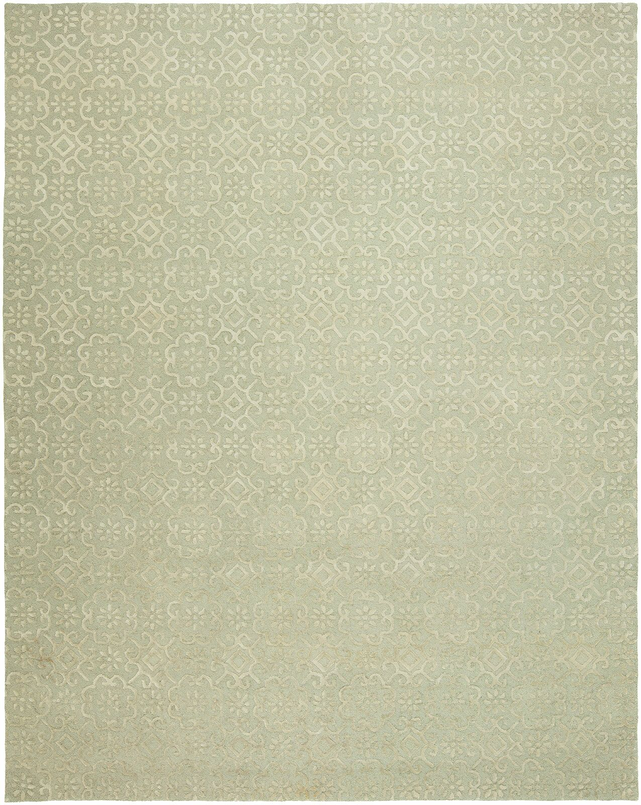 Ally Hand-Tufted Wool Ivory Area Rug Rug Size: Rectangle 3'6