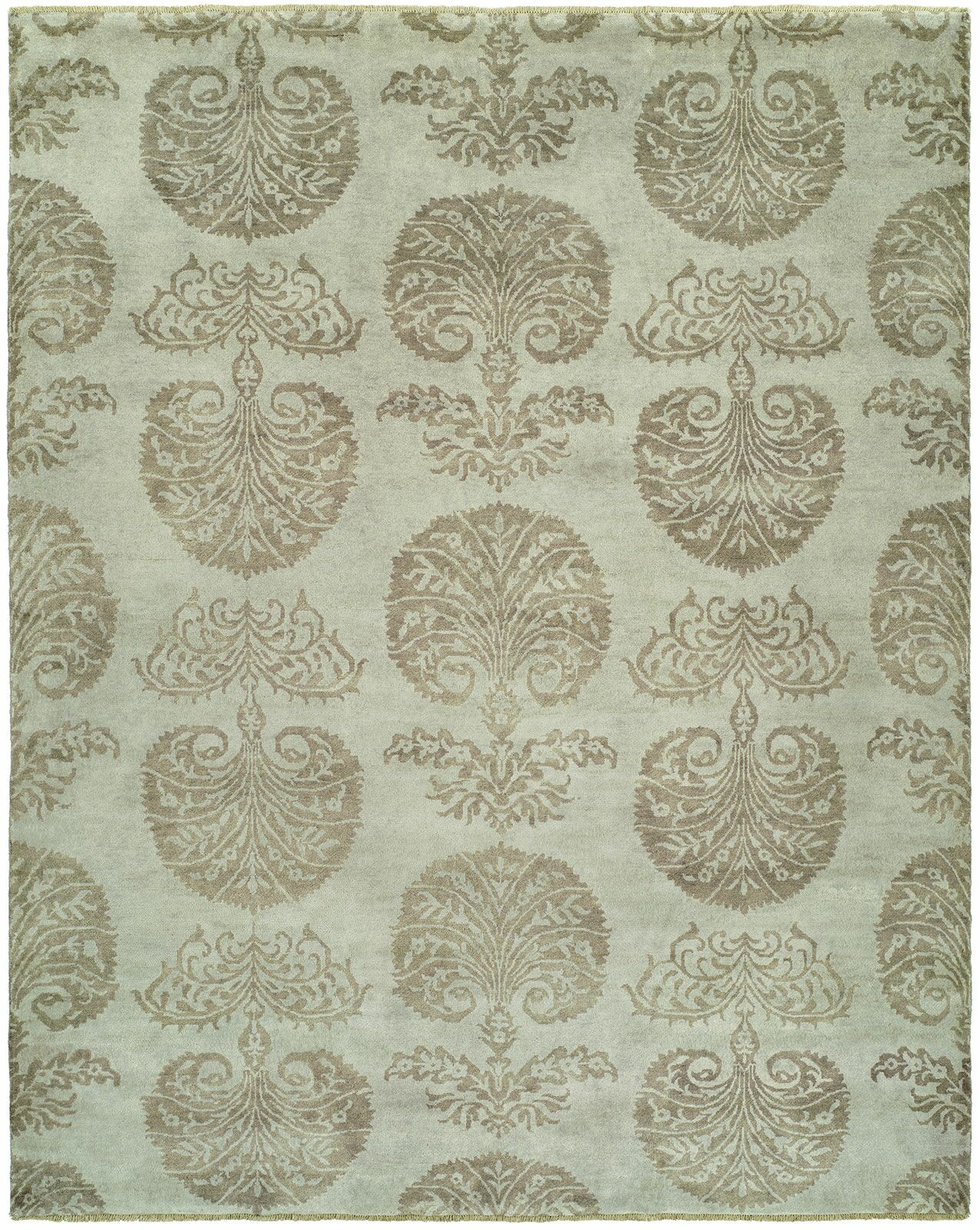 Sébastien Hand-Knotted Wool Ivory Area Rug Rug Size: Runner 2'6