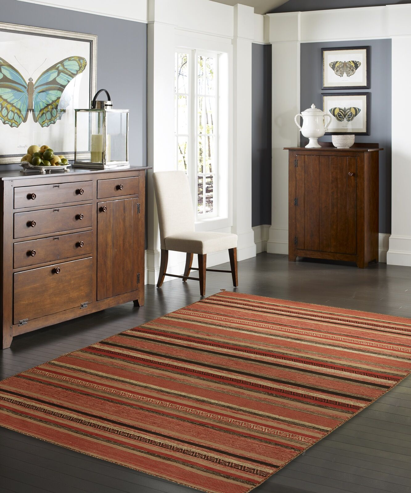 Dockrey Hand-Knotted Cotton Rust Area Rug Rug Size: Rectangle 8'6
