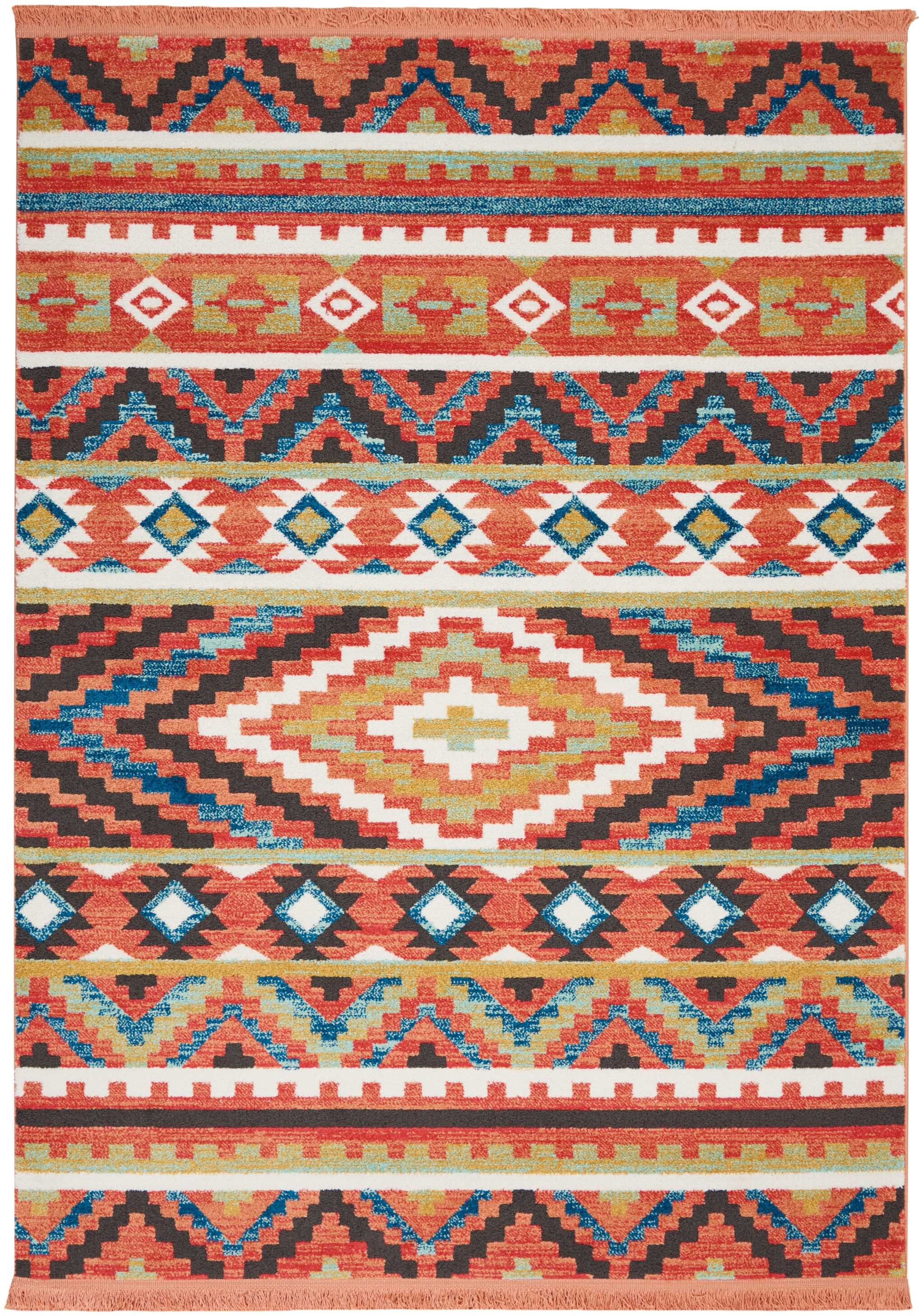 Carice Orange Area Rug Rug Size: Rectangle 5'3
