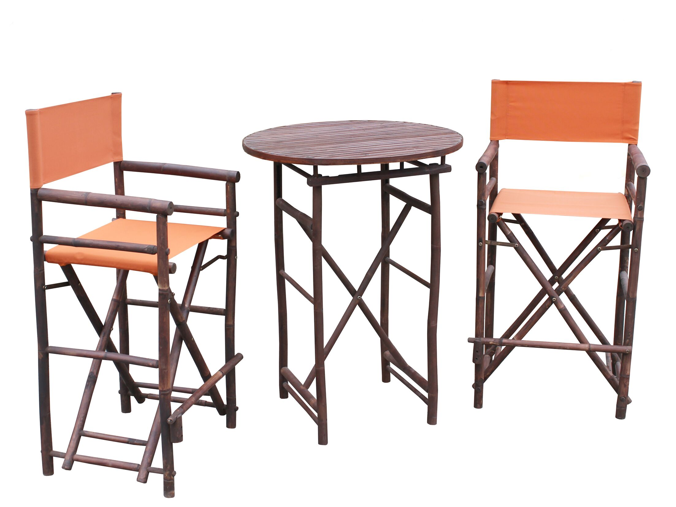 Waterford 3 Piece Bar Height Dining Set Color: Espresso/Pottery