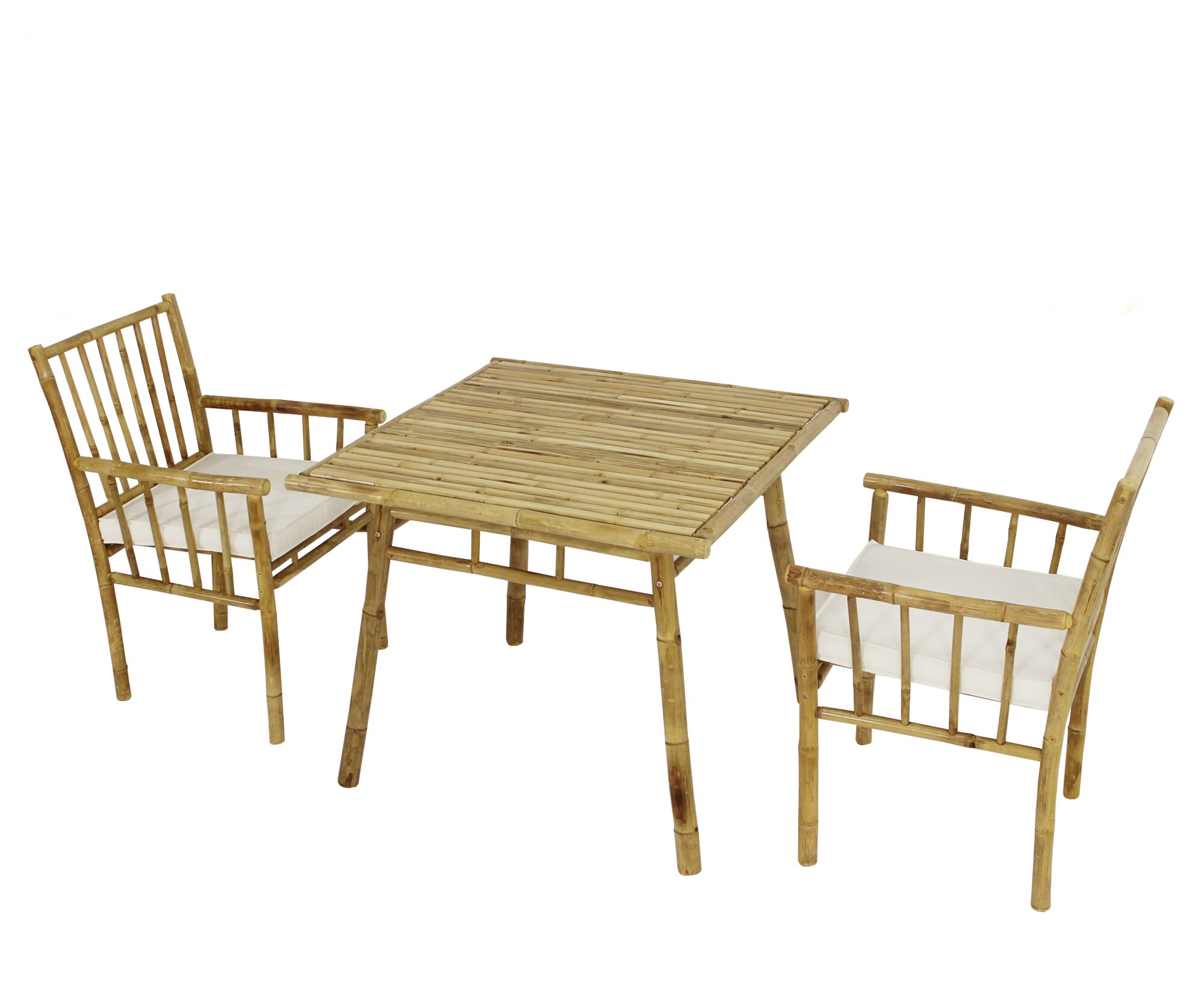 Kridia 3 Piece Bistro Set with Cushions Color: White