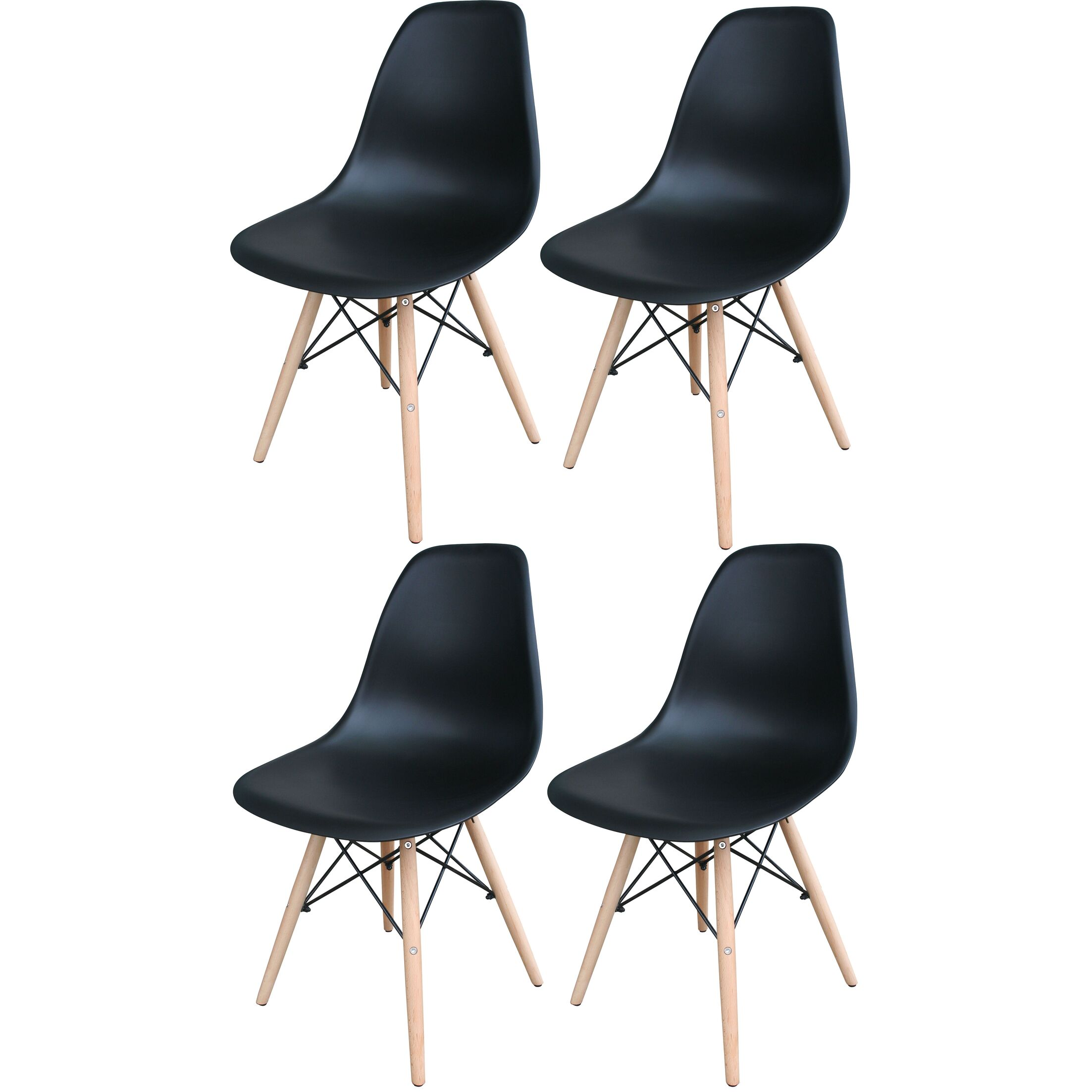 Stembridge Solid Wood Side Chair Finish: Black