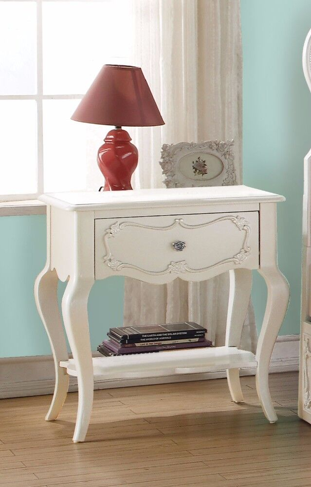 Hagberg Beautiful 1 Drawer Nightstand Color: White