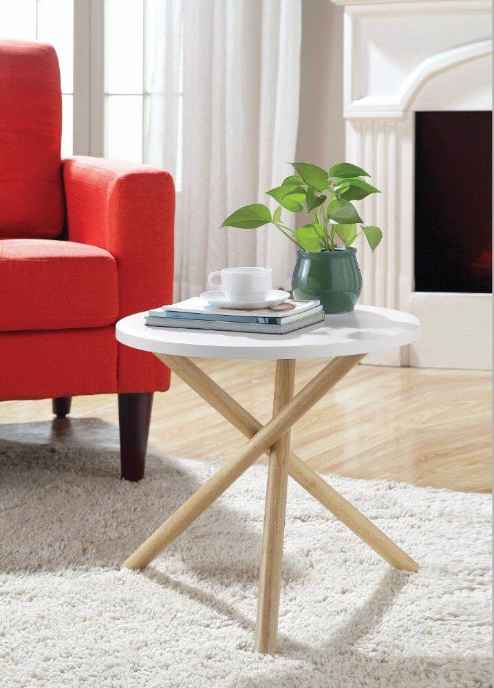 Wight End Table Table Top Color: White
