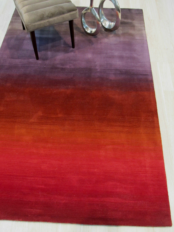 Carolina Hand-Woven Wool Red Area Rug Rug Size: Rectangle 5' x 8'