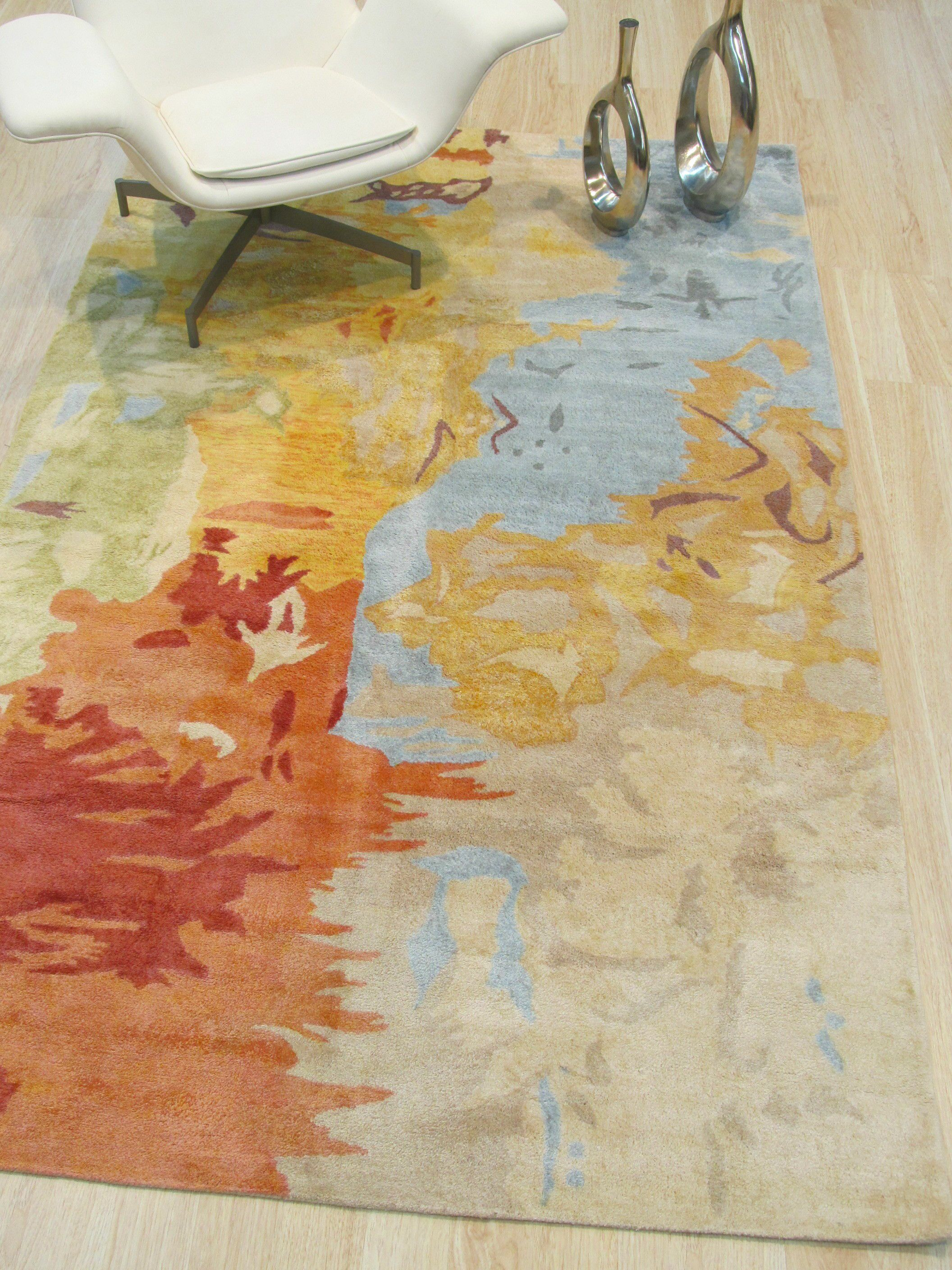 Callie Hand-Tufted Multicolored Area Rug Rug Size: Rectangle 7'9