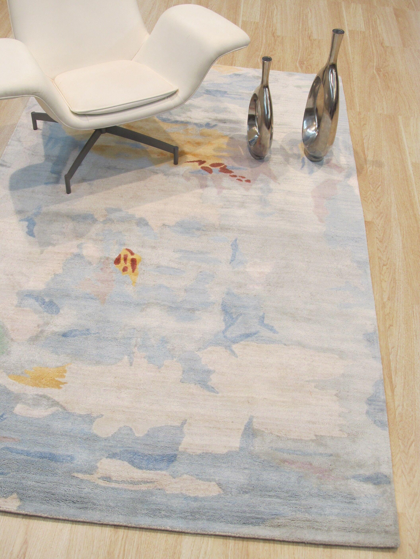 Callie Hand-Tufted Blue Area Rug Rug Size: Rectangle 7'9