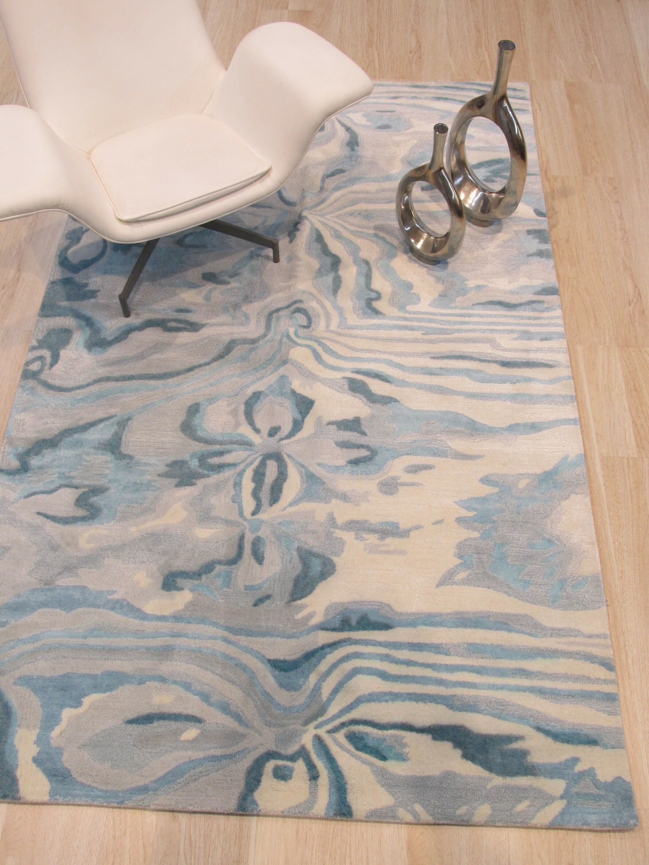 Callie Hand-Tufted Blue Area Rug Rug Size: Rectangle 9'6