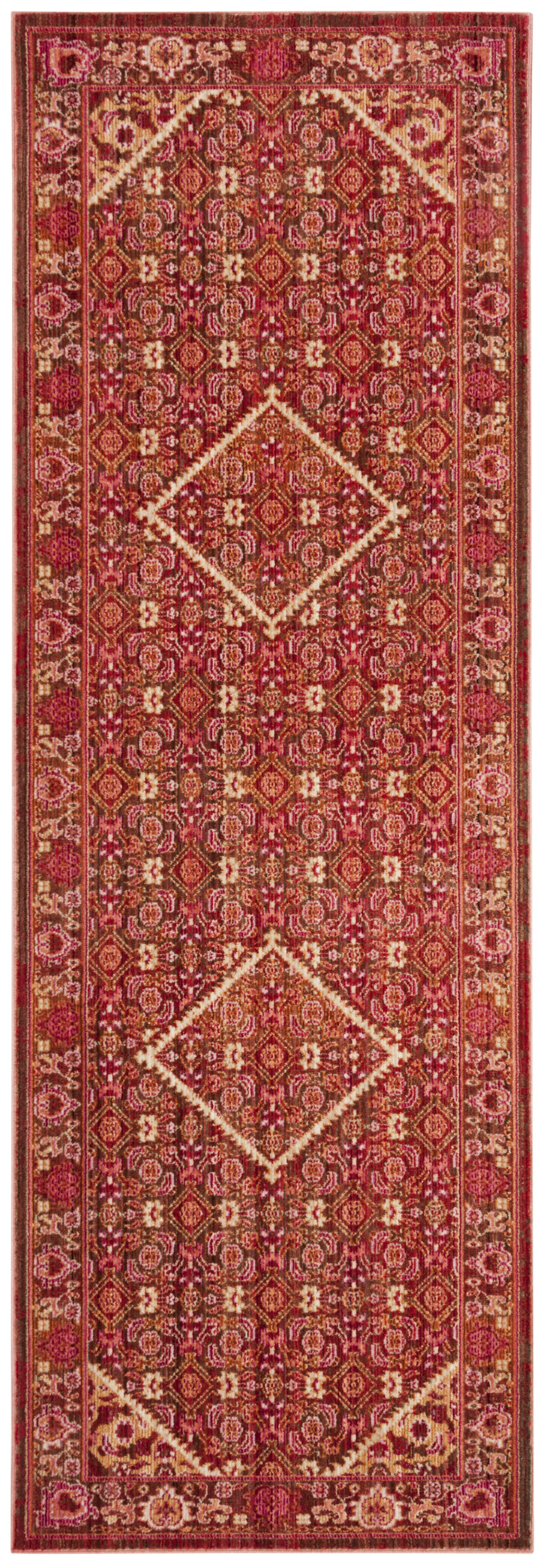 Justine Rust Area Rug Rug Size: Runner 3' x 8'