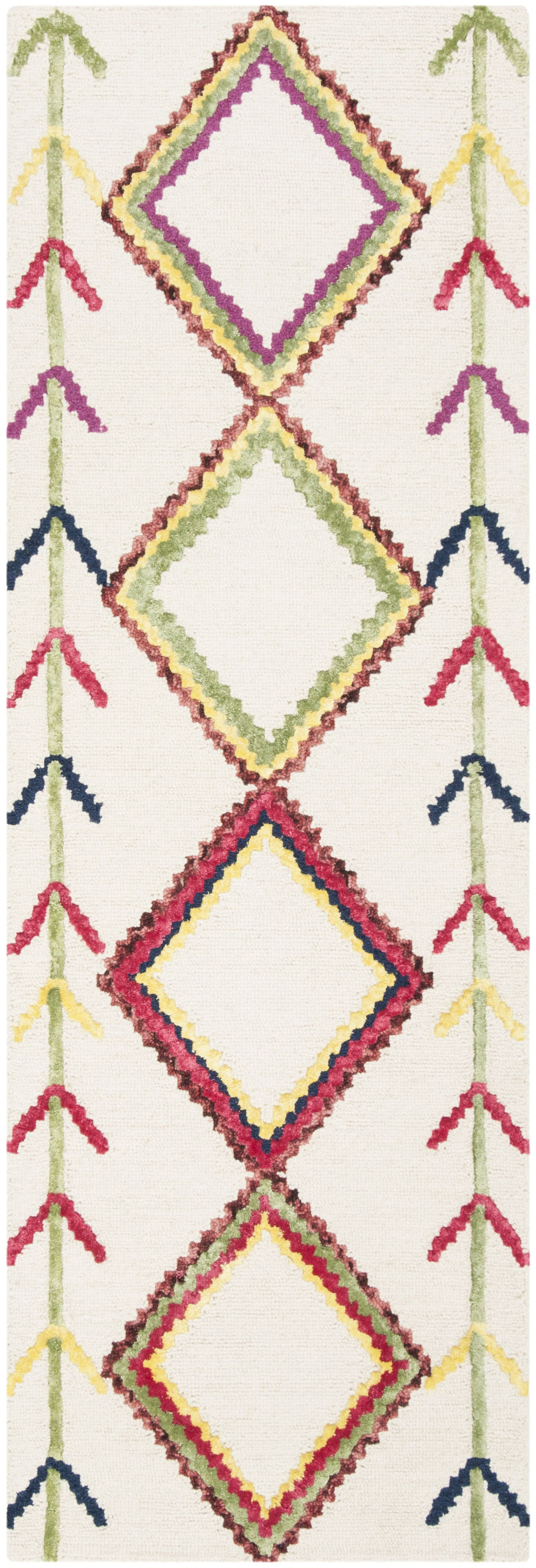 Juney Hand-Tufted Wool Ivory Area Rug Rug Size: Runner 2'3