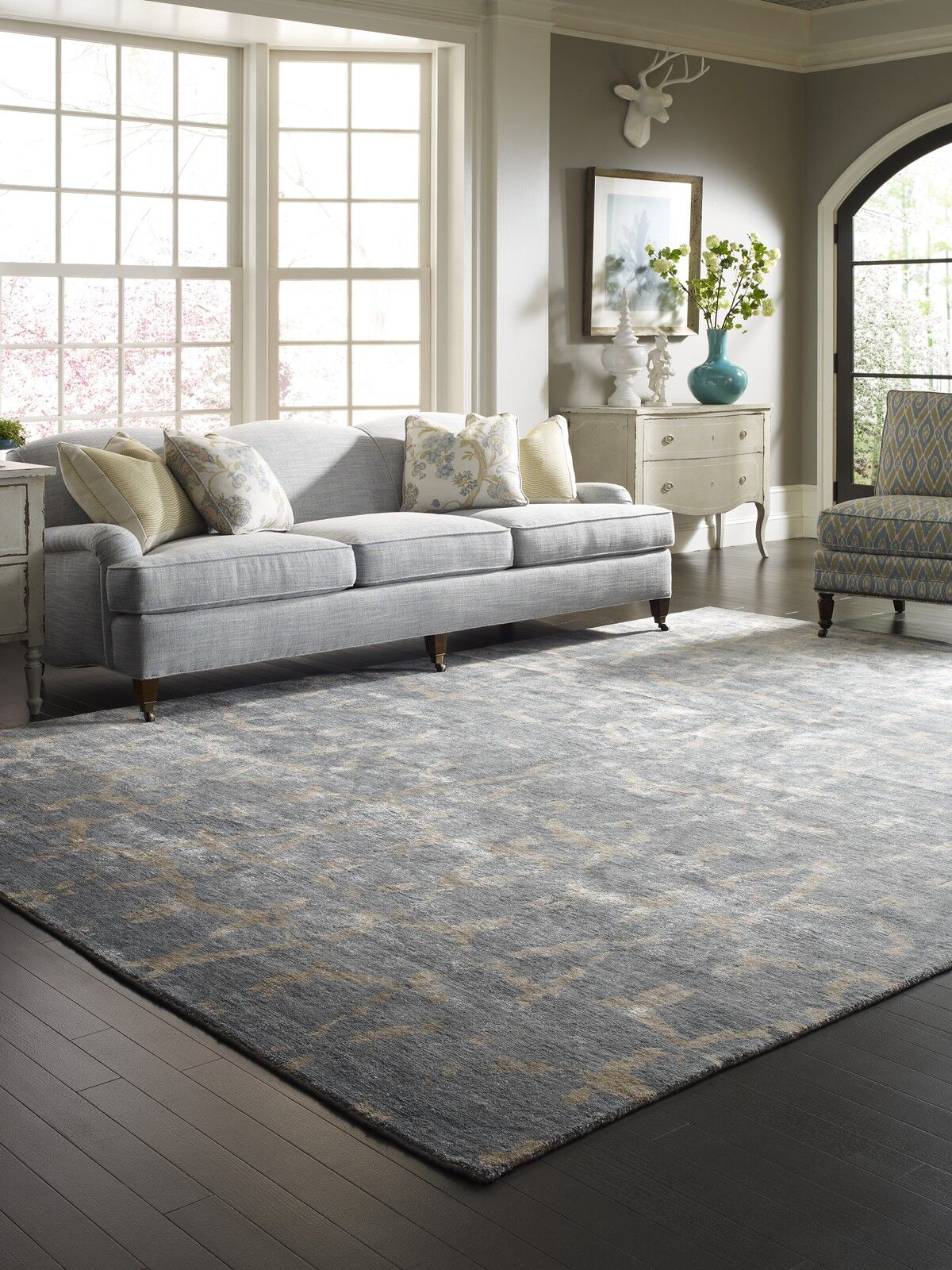 Grisella Hand Knotted Blue Area Rug Rug Size: Runner 2'6