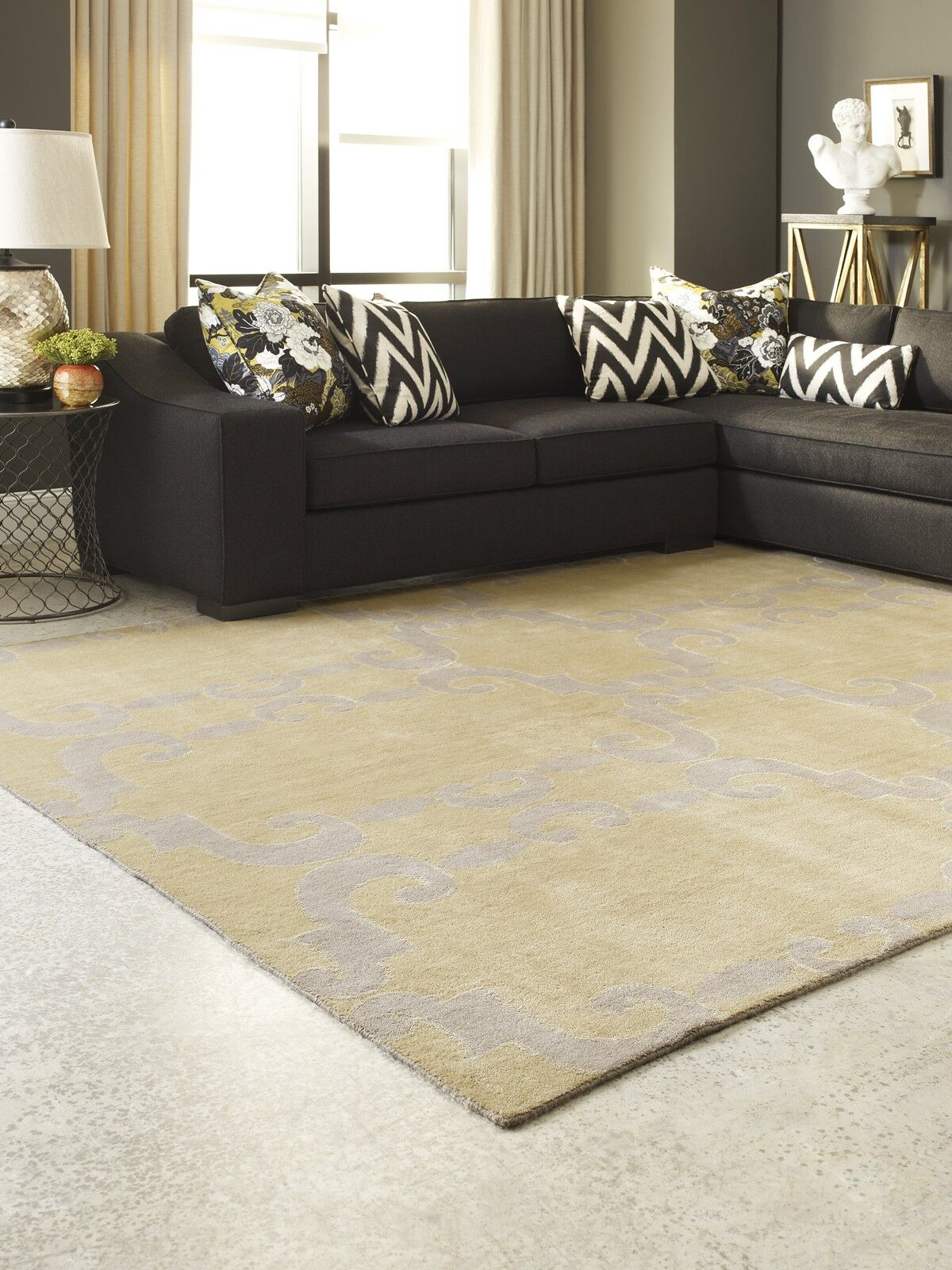 Gotsch Hand Knotted Wool Gold Area Rug Rug Size: Rectangle 2' x 3'