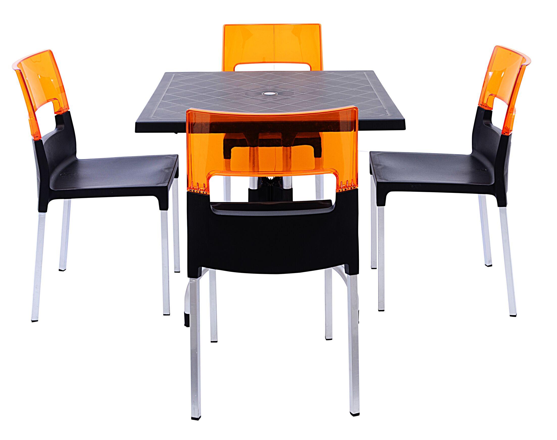 Slezak 4 Piece Dining Set Color: Black