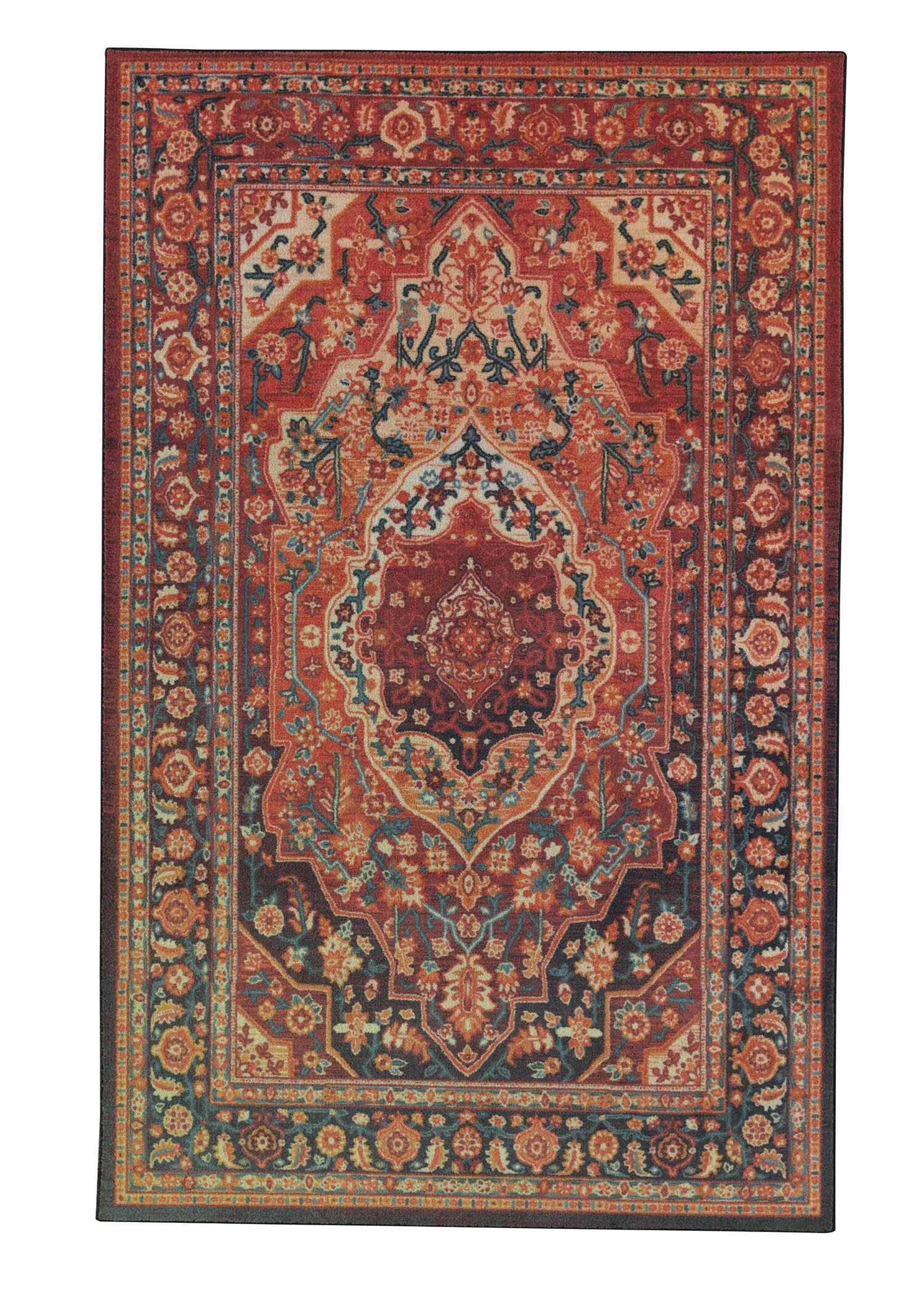 Clement Tangerine Red Area Rug Rug Size: Rectangle 5 'x 8'