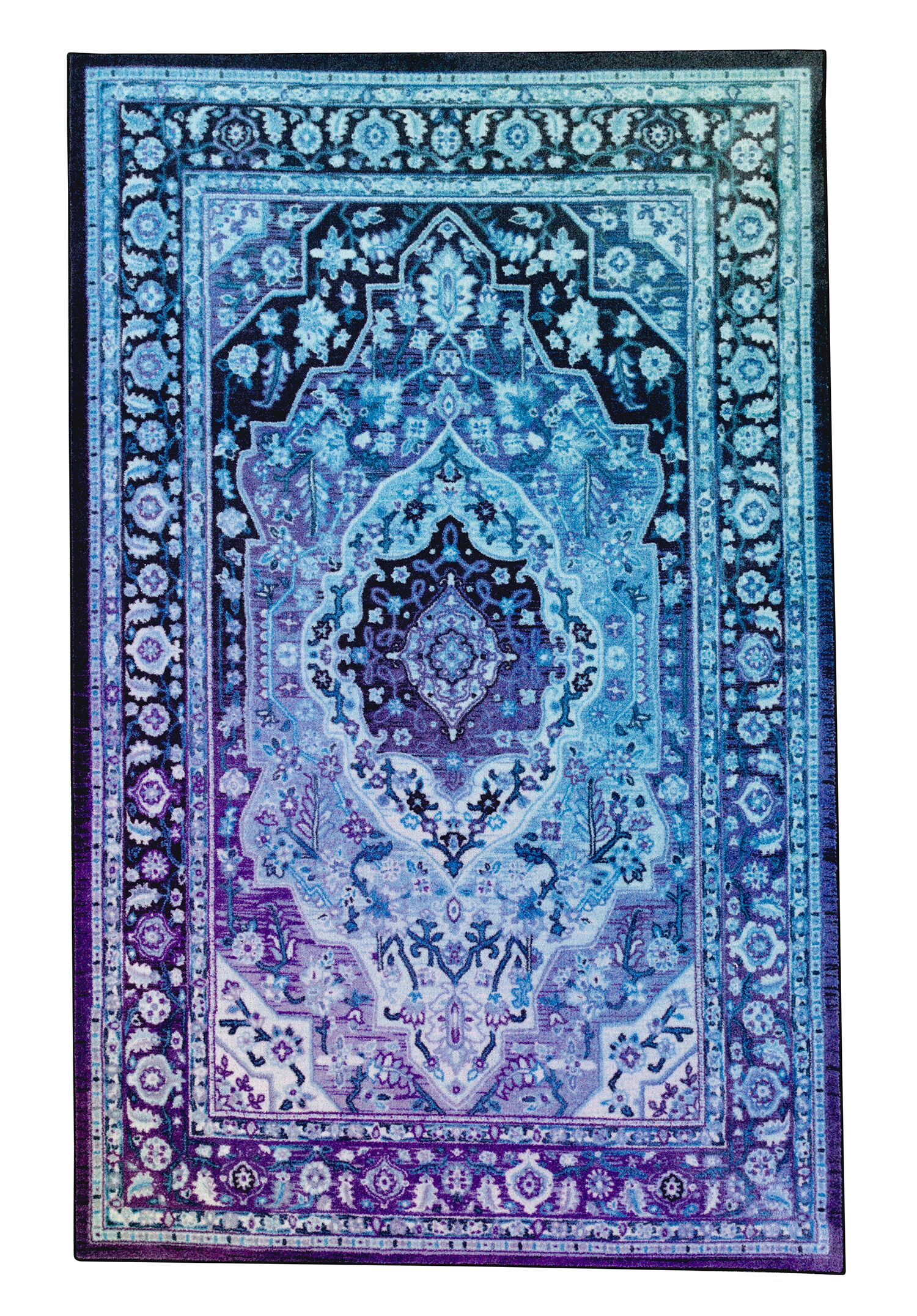 Clement Twilight Blue Area Rug Rug Size: Rectangle 5 'x 8'