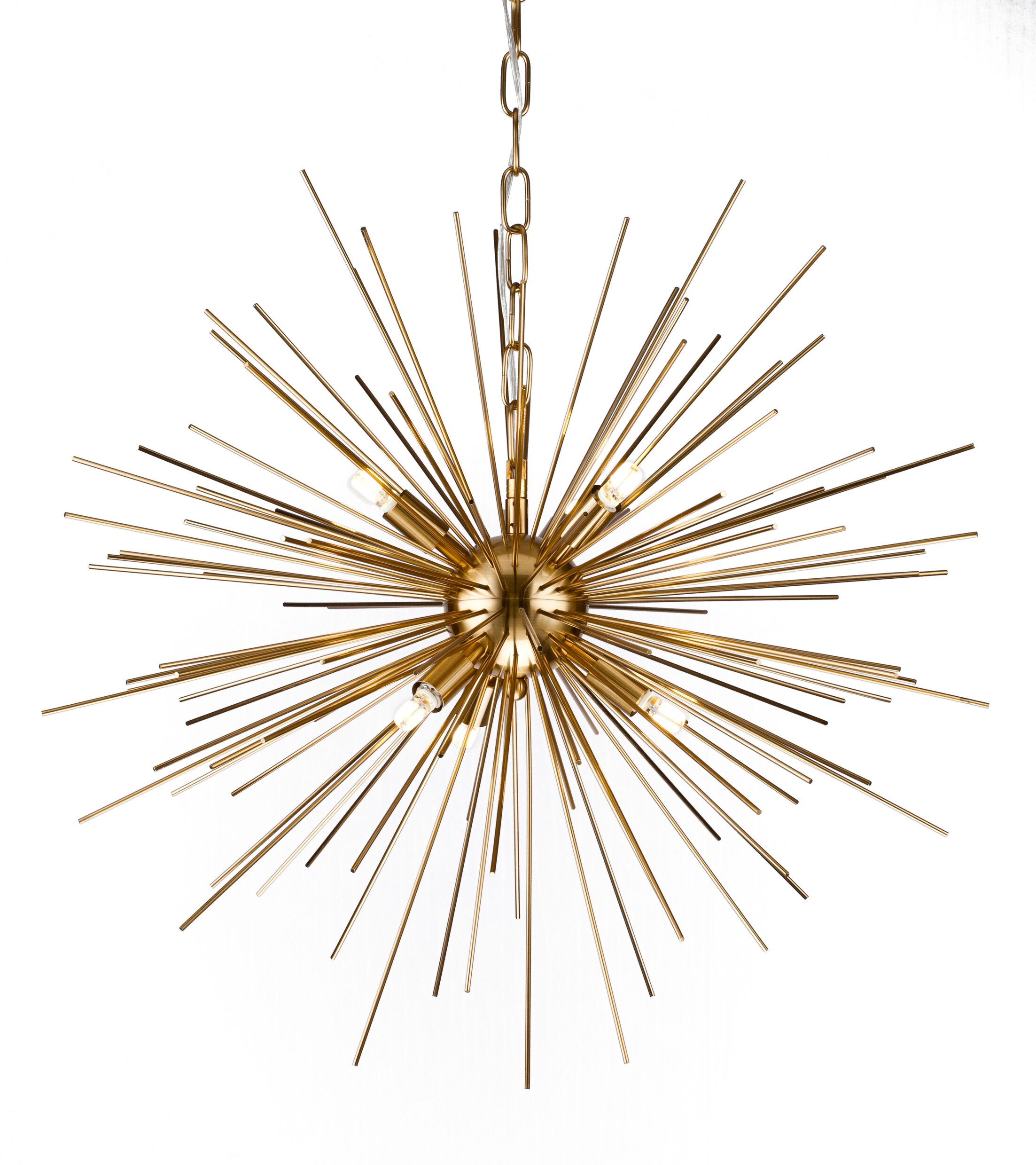 Kamila Iron Spike Fixture 6-Light Chandelier