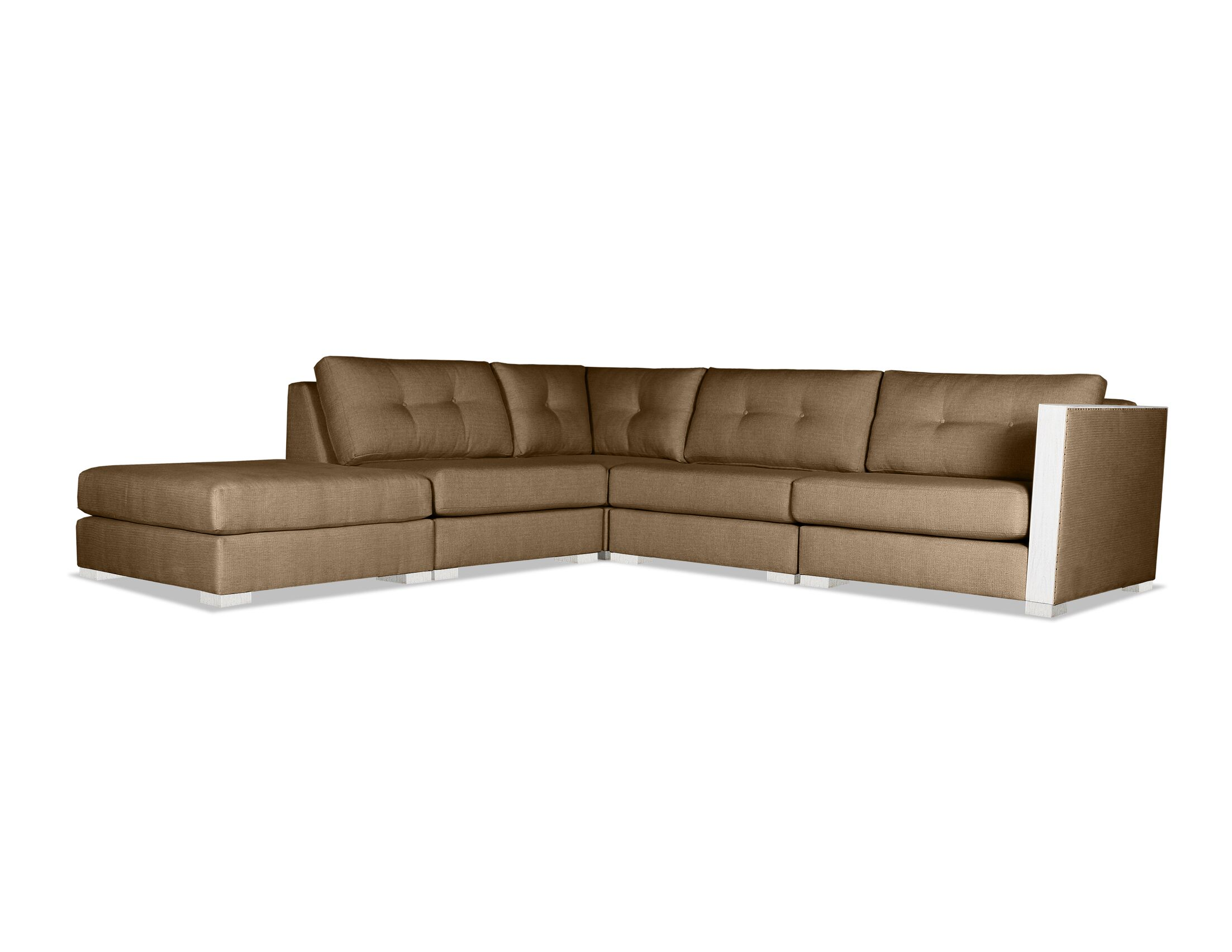 Steffi Modular Sectional with Ottoman Upholstery: Brown
