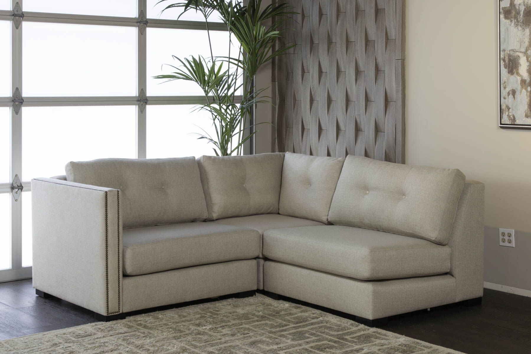 Timpson Plush Deep Modular Sectional Upholstery: Sand, Orientation: Left Hand Facing