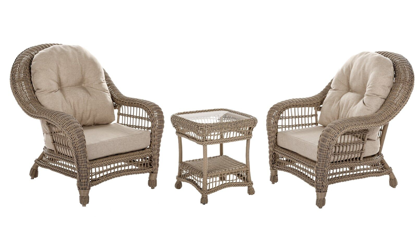Allee 3 Piece 2 Person Seating Group