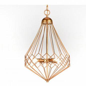 Chan Geo 3-Light Geometric Chandelier Finish: Gold