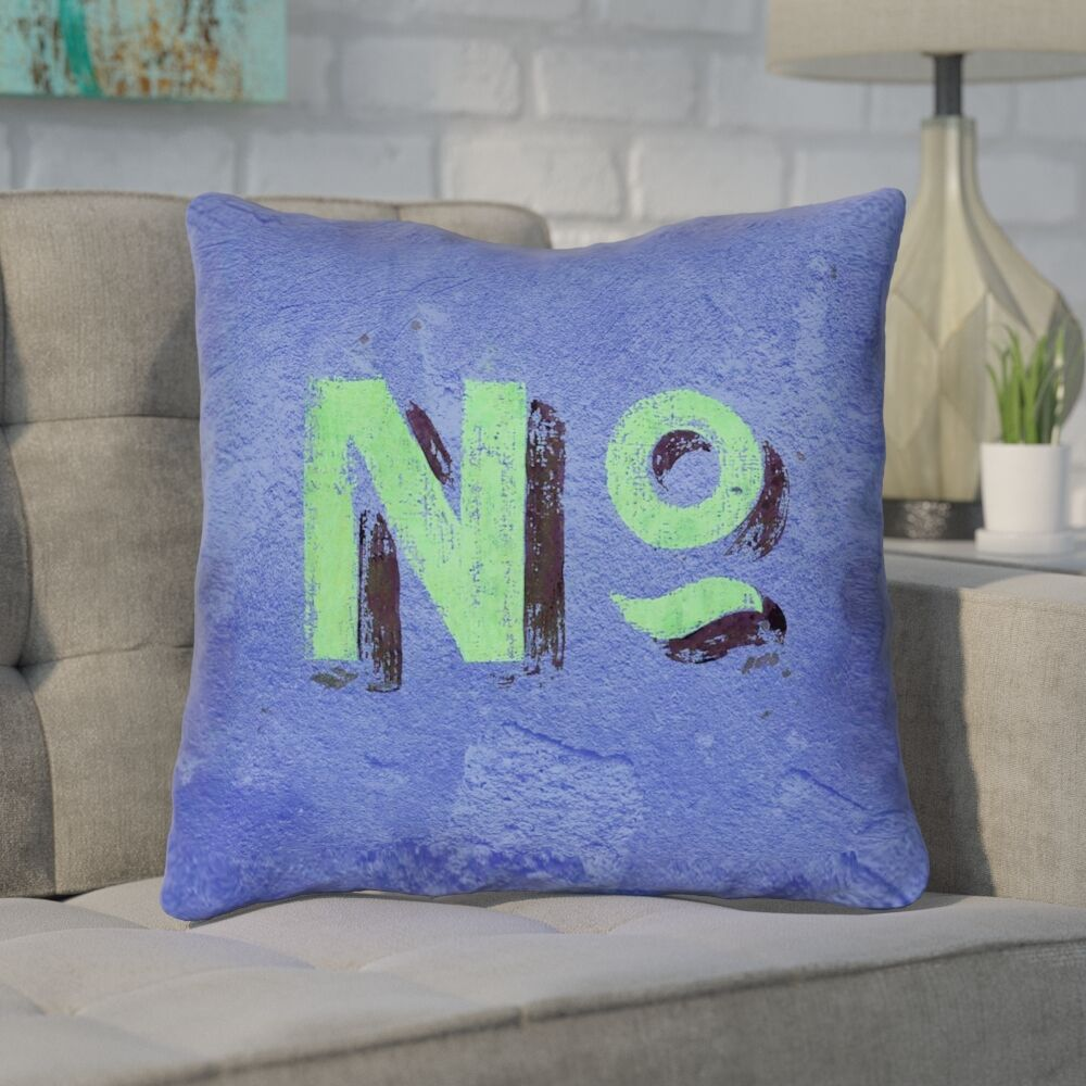 Enciso Graphic Square Wall Throw Pillow Size: 14