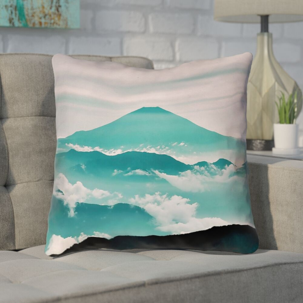 Enciso Fuji Throw Pillow with Concealed Zipper Size: 14