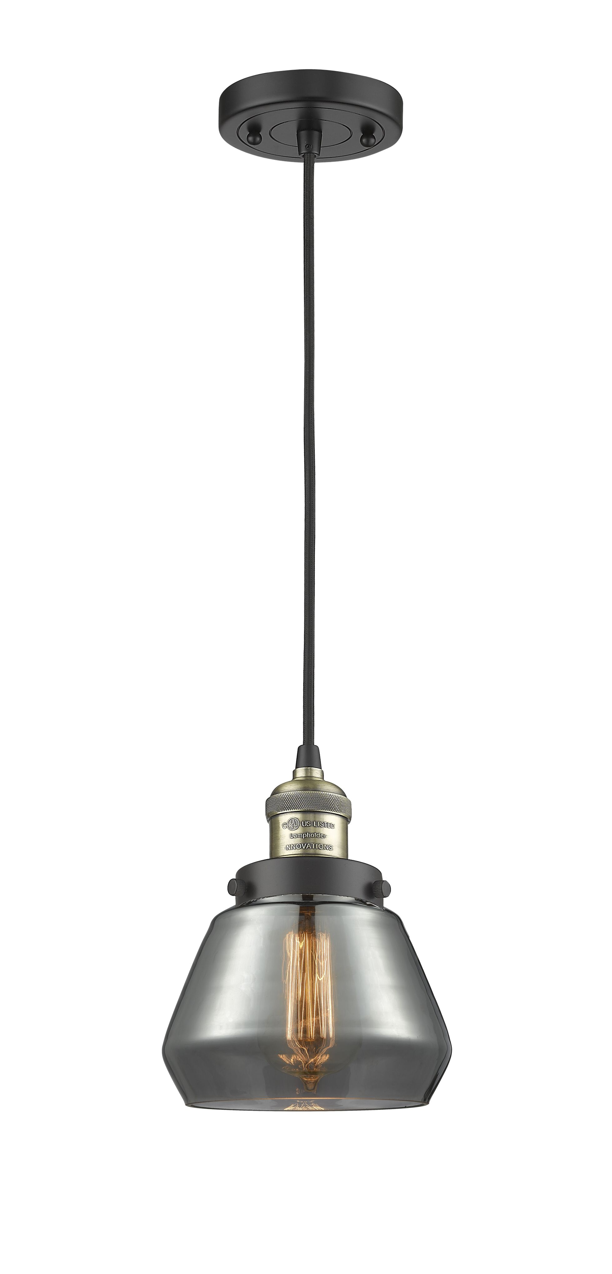 Dupree 1-Light Dome Pendant Finish: Polished Nickel, Shade Color: Clear