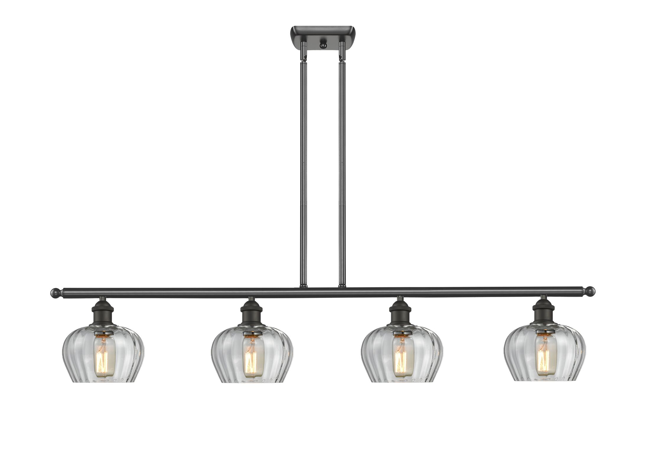 Dooling 4-Light Kitchen Island Pendant Finish: Oil Rubbed Bronze, Shade Color: Clear