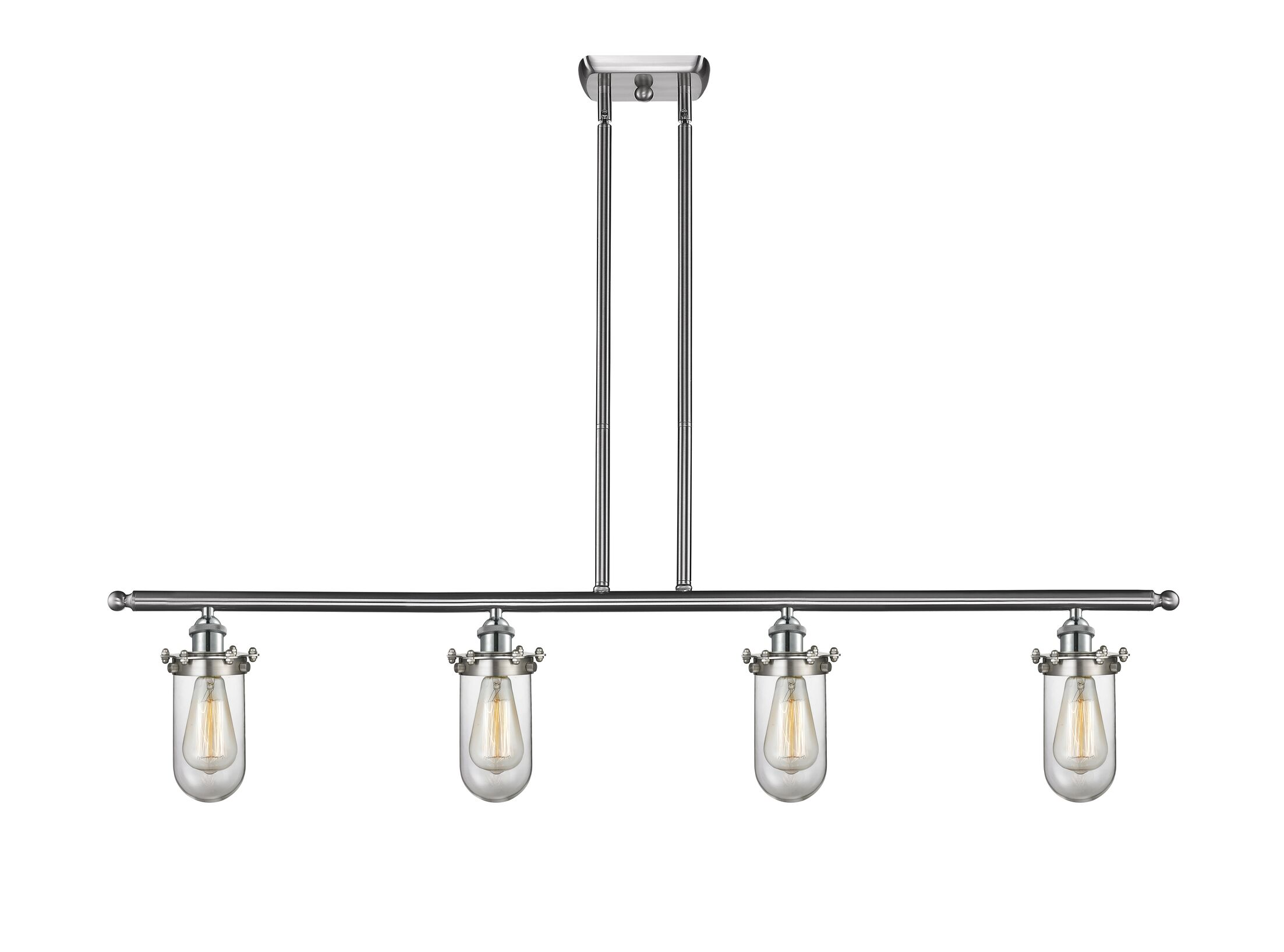 Narvaez 4-Light Kitchen Island Pendant Color: Oil Rubbed Bronze, Shade Color: Clear