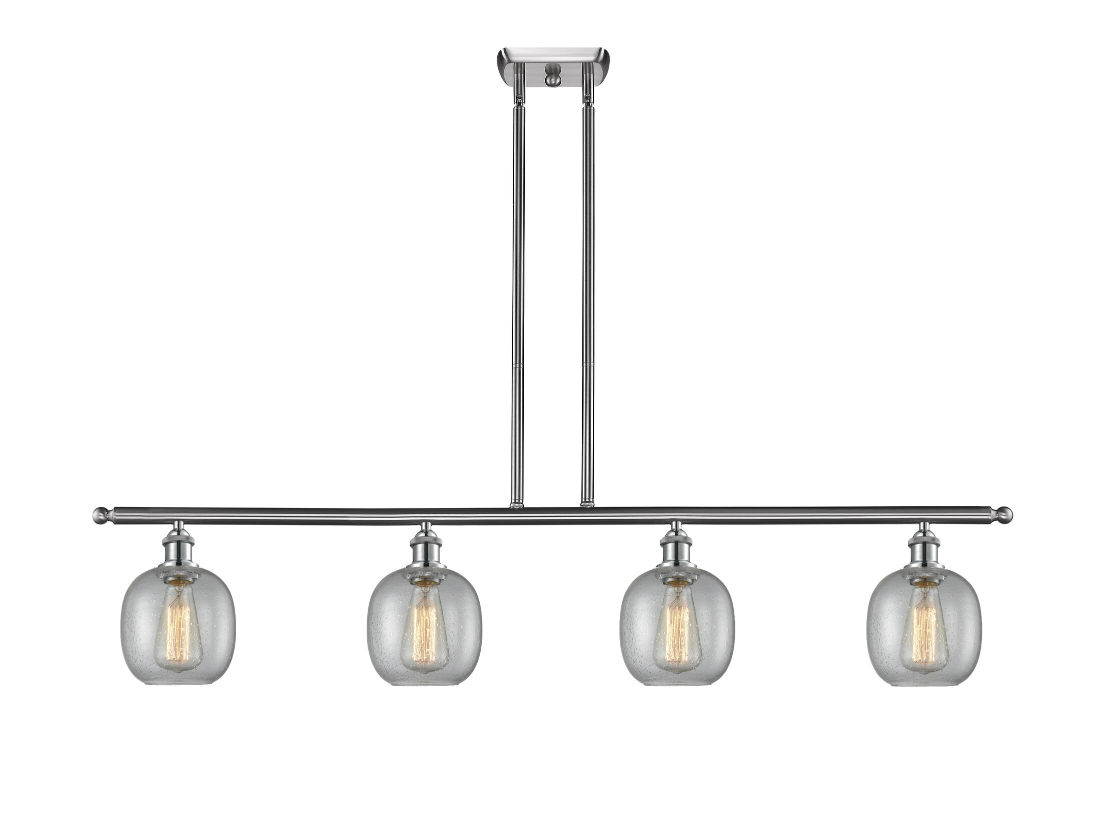 Raye 4-Light Kitchen Island Pendant Finish: Brushed Satin Nickel, Shade Color: Clear Seedy