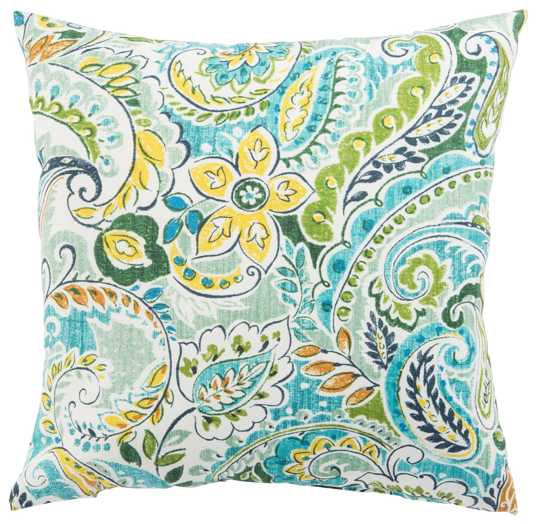 Coppinger Floral Outdoor Throw Pillow