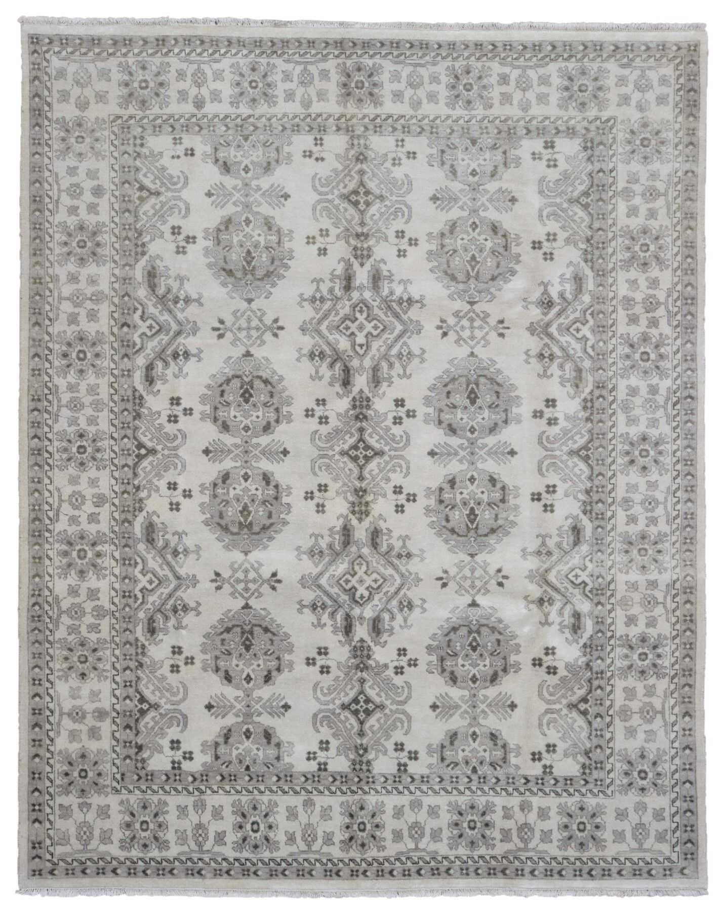 One-of-a-Kind Mitchel Oriental Hand Woven Wool Beige/Green Area Rug
