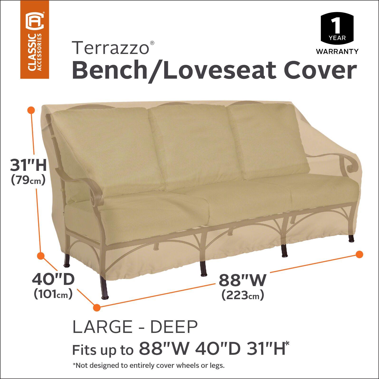 Deep Seated Patio Sofa Cover Size: 34