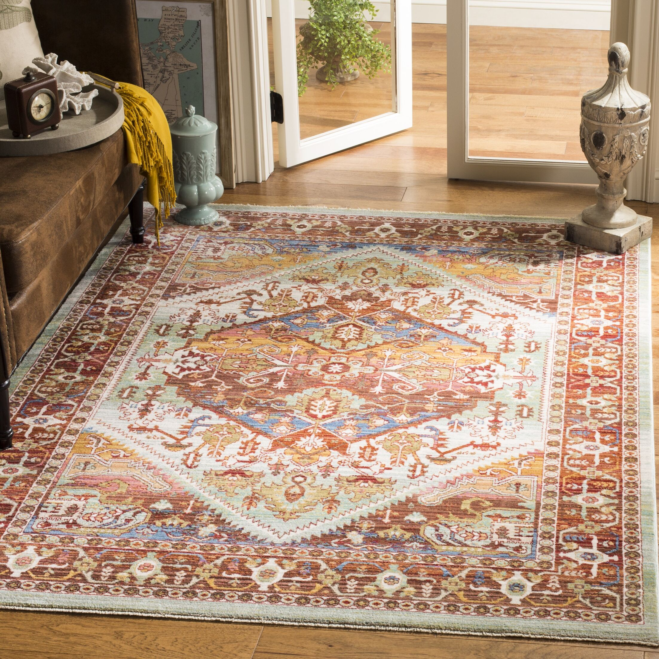 Justine Rust Area Rug Rug Size: Rectangle 4' x 6'
